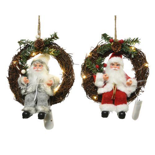 Couronne LED père Noël