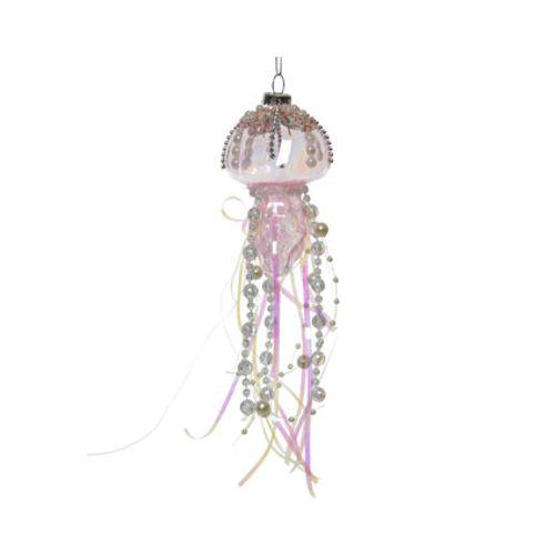 Pendentif meduse verre avec perles