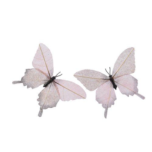 Vlinder glitterblad met clip