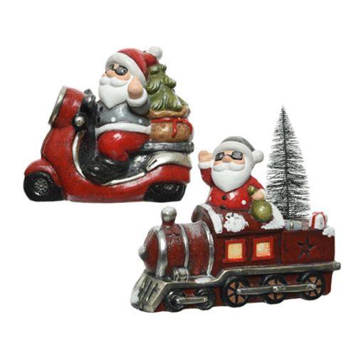 Décoration père Noël terre cuite vehicle