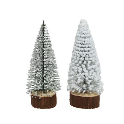 Decoratie miniboom houten voet 28cm 1 stuk