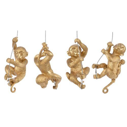Hangertjes gouden aap poly draad 1 stuk