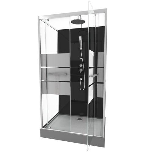 Cabine de douche Aurlane Study chrome 110x80cm