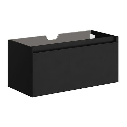 Meuble sous-lavabo Allibert Fangorn MDF noir ultra mat laqué 100cm
