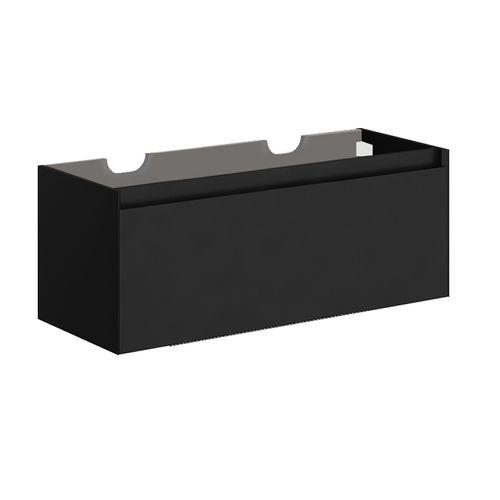 Allibert wastafelonderkast Fangorn 120cm zwart ultra mat gelakt MDF