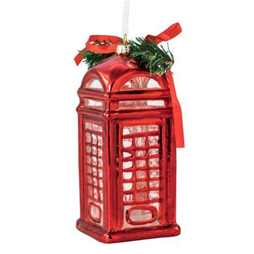 Cabine téléphonique rouge 15x6cm