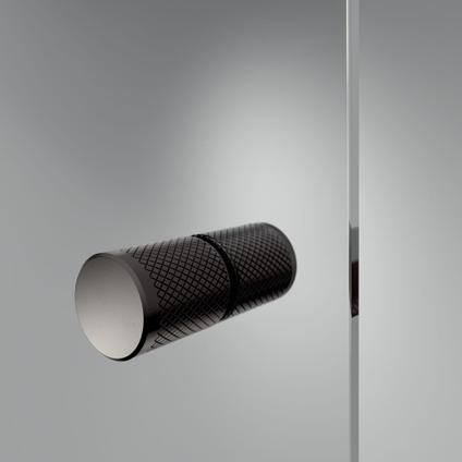 Sealskin get wet Contour draaideur met zijwand 90x90cm, 200cm hoog |zwart 6mm helder veiligheidsglas