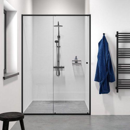 Sealskin Get Wet Contour porte coulissante pour niche 120x200cm noir verre de sécurité clair 6mm