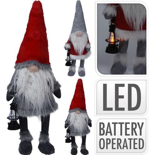 Gnome avec nez LED 84x26cm