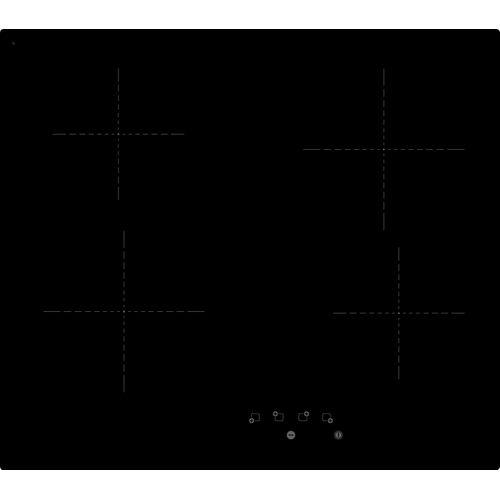 Plaque de cuisson vitrocéramique Electrum PA6040VTC noir 60cm