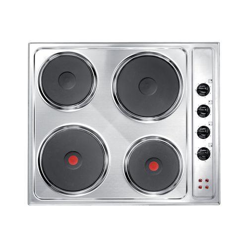 Plaque de cuisson électrique 4 foyers Electrum EH642EX inox 60cm