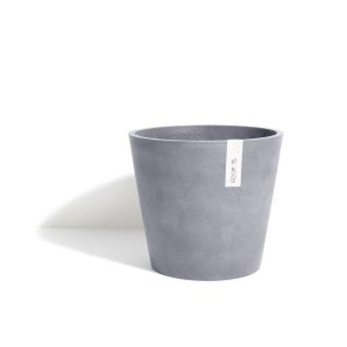 ECOPOTS Amsterdam pot met wieltjes grijs blauw 60cm