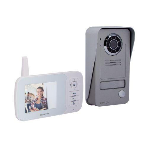 """Chacon videointercom draadloos digitaal met LCD 3,5"""" scherm"""