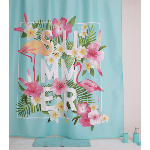 Allibert douchegordijn Akina polyester 180x200cm
