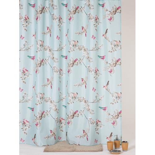 Allibert douchegordijn Flora polyester 180x200cm