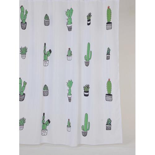Allibert douchegordijn Cactus polyester 180x200cm