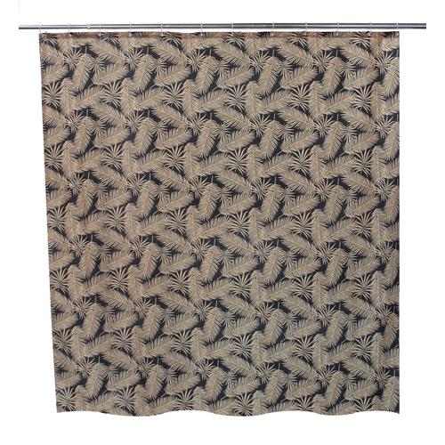Allibert douchegordijn Oural zwart polyester 180x200cm