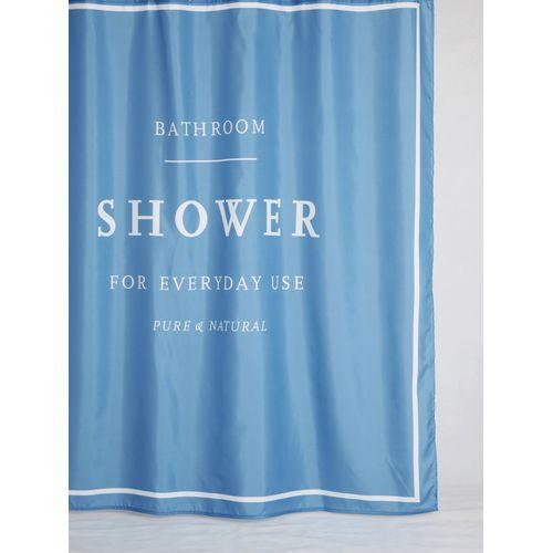 Allibert douchegordijn Azur polyester blauw 180x200cm