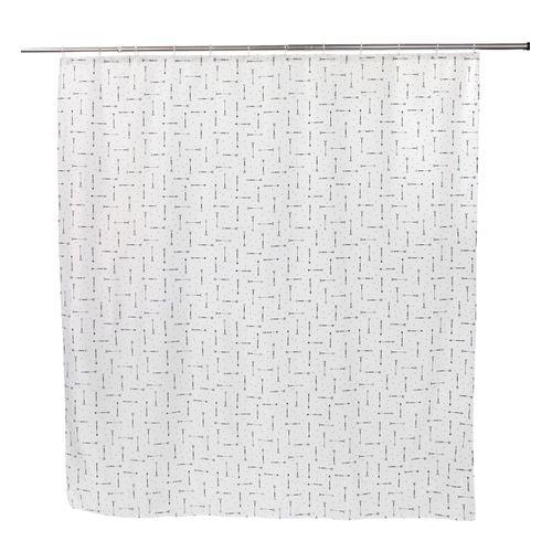 Allibert douchegordijn Arrow zwart polyester 180x200cm