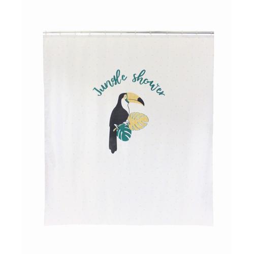 Allibert douchegordijn Toucan polyester 180x200cm