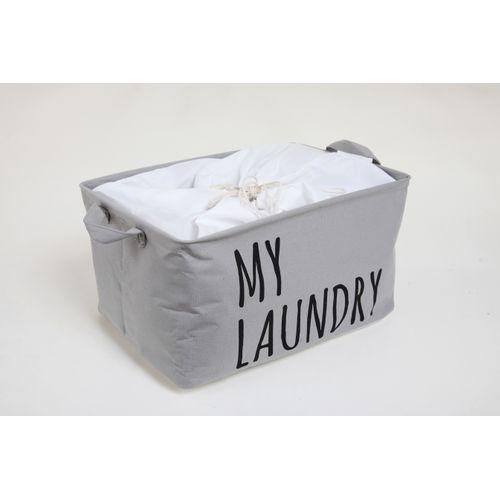 Allibert wasmand My Laundry polykatoen grijs