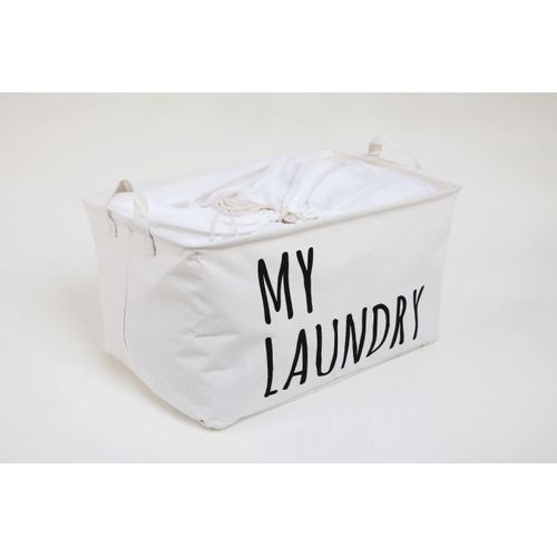 Sac à linge Allibert My Laundry polycoton blanc