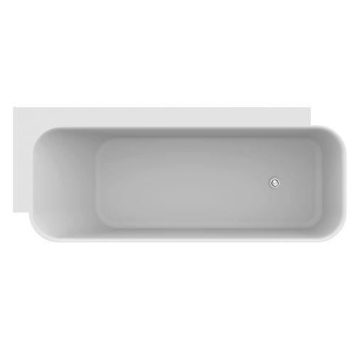 TIMEA Vrijstaand Hoekbad  - 168 x 68 x 51 cm - Solid surface