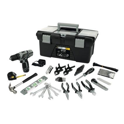 Boîte à outils + perceuse-visseuse Sencys MAXPT190206 12V