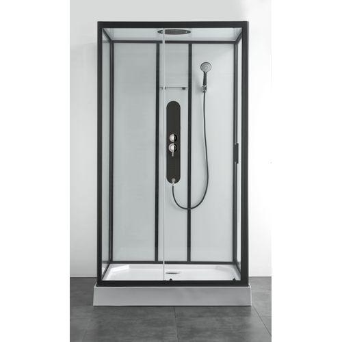 Allibert douchecabine Uyuni rechthoekig 80x120cm zwart