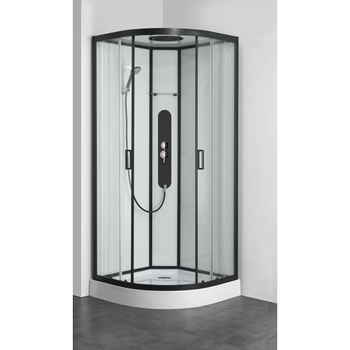 Allibert douchecabine Uyuni kwartrond 90x90cm zwart