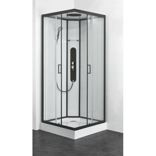 Allibert douchecabine Uyuni vierkant 90x90cm zwart