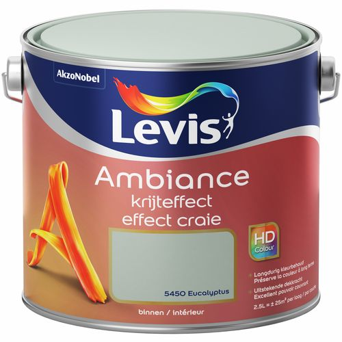 Levis verf Ambiance krijteffect eucalyptus mat 2,5L