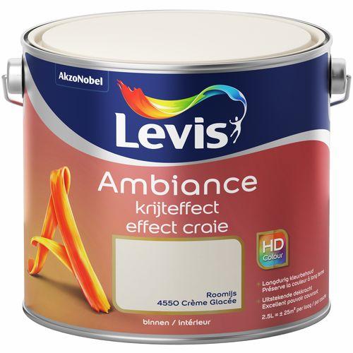 Levis verf Ambiance krijteffect roomijs mat 2,5L