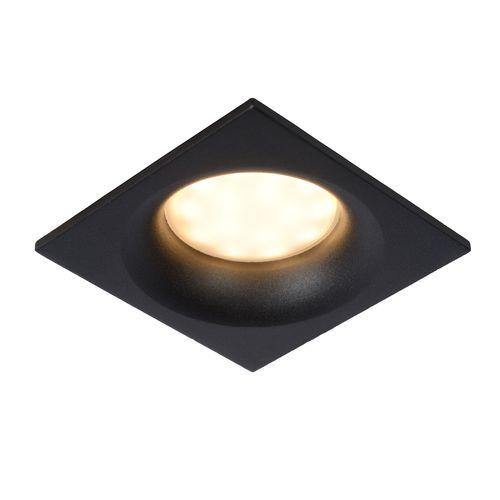 Spot encastrable Lucide Ziva carré noir GU10