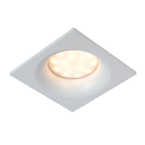 Spot encastrable Lucide Ziva carré blanc GU10