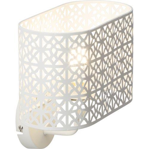 Brilliant wandlamp Nour wit E27