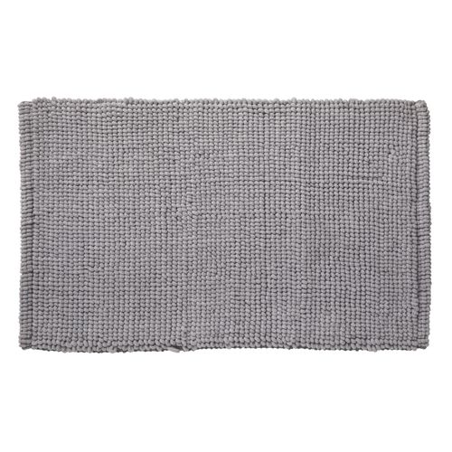 Future home badmat Bali grijs 50x80cm polyester/katoen