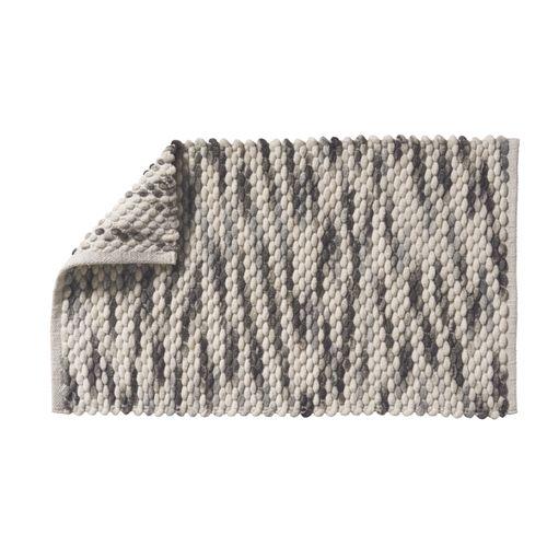 Future home badmat Gaby grijs 50x80cm polyester/katoen