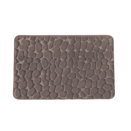 Tapis de bain Future Home Mineral taupe polyester 50x80cm