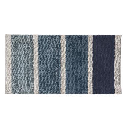 Tapis de bain Future Home Mykonos bleu polycoton 60x120cm