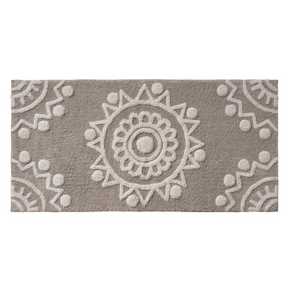 Tapis de bain Future Home Pondichéry taupe coton 60x120cm