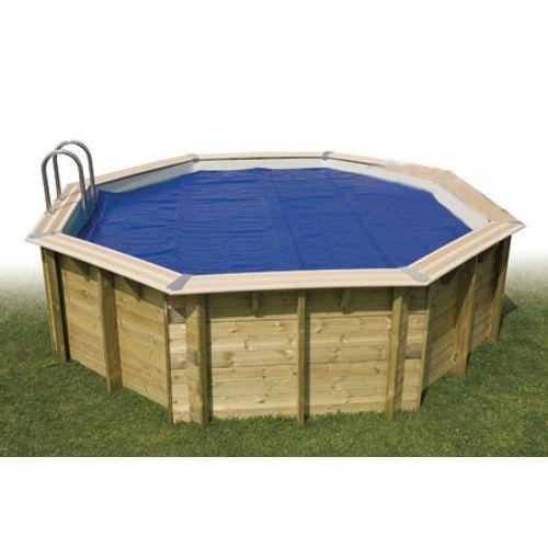 Bâche à bulles piscine Ubbink octogonale Ø450cm