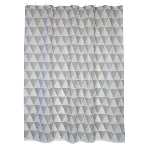 MSV douchegordijn Narok grijs 180cm