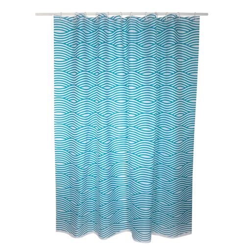 MSV douchegordijn Wave blauw 180cm