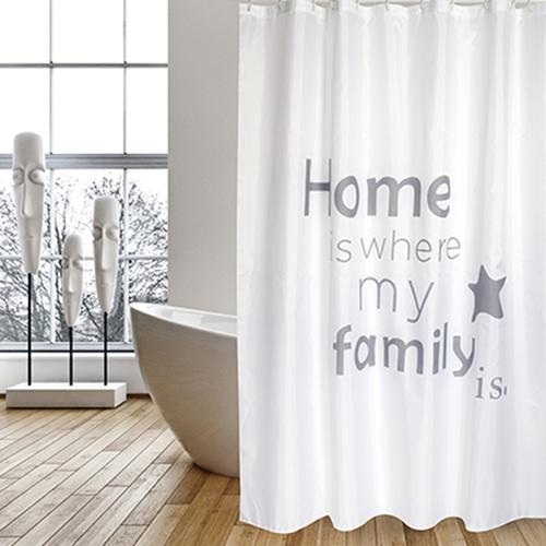 MSV douchegordijn Home grijs 180cm