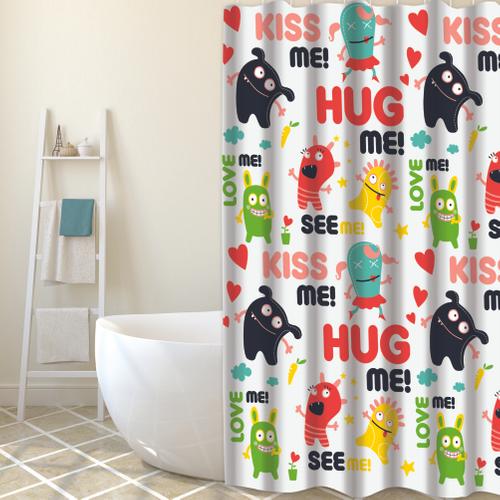 MSV douchegordijn Hug Me multikleur 180cm