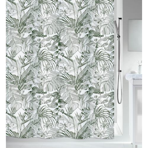 Spirella douchegordijn Tropic donkergroen 180cm