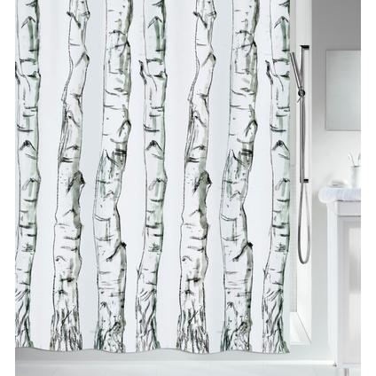 Spirella douchegordijn Wood zwart 180cm