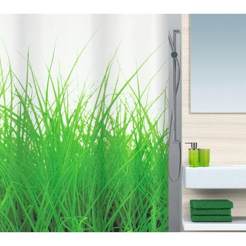 Spirella douchegordijn Grass groen 180cm
