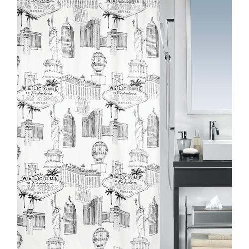 Spirella douchegordijn Vegas zwart 180cm